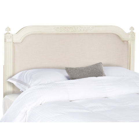Antique Beige Wooden Headboard
