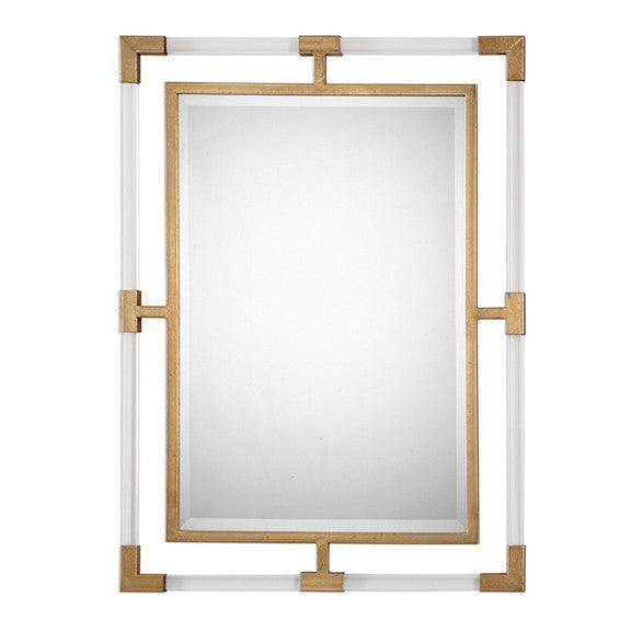 Uttermost Balkan Modern Gold Wall Mirror