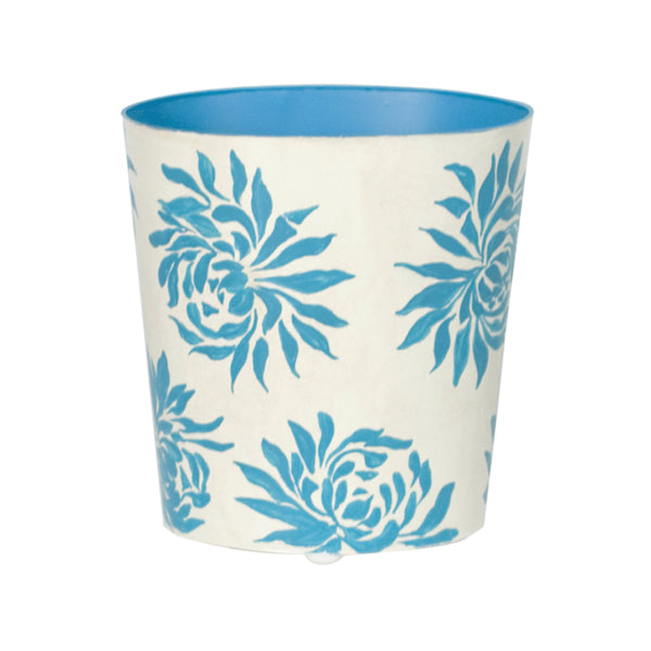 Worlds Away Patterned Wastebaskets