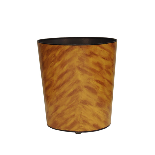 Worlds Away Tortoise Shell Wastebasket
