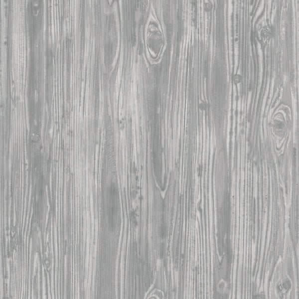 Pewter Woodgrain Wallpaper by Tempaper