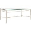 Abelard Cocktail Table in Silver