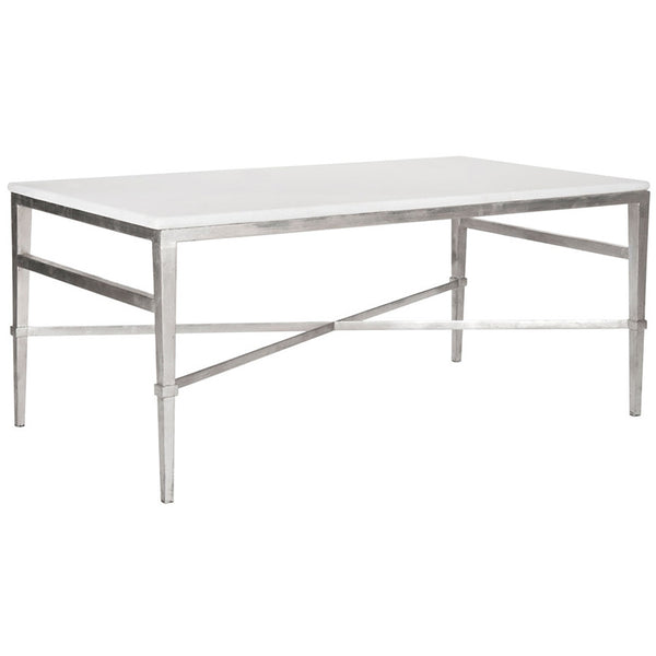 Acker Cocktail Table in Silver