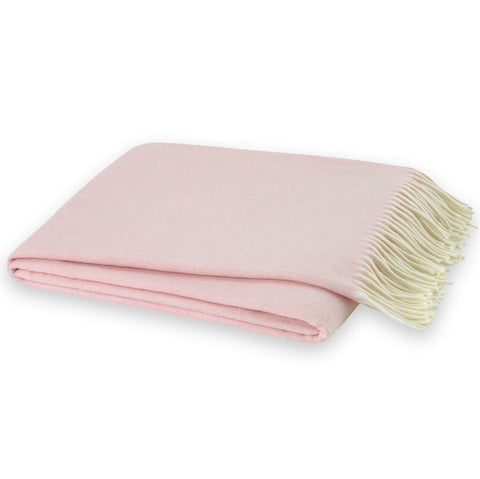 Pink Blossom Herringbone Throw