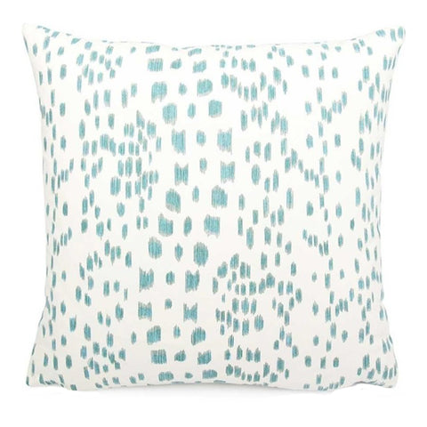 Les Touches Aqua Blue Brunschwig & Fil Pillow
