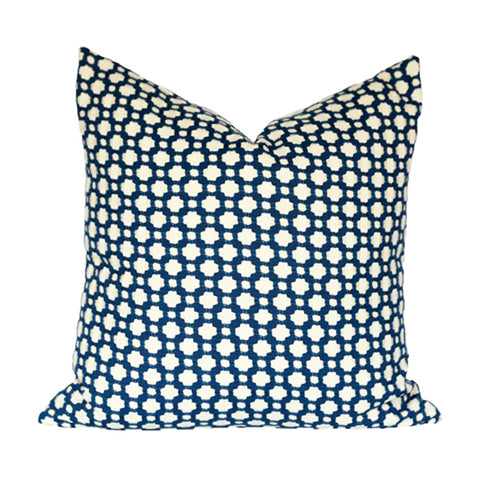 Betwixt Navy and Ivory Pillow