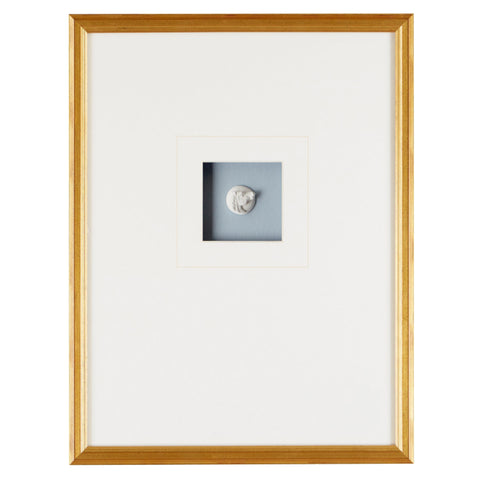 Single Intaglio Off Center Framed Art