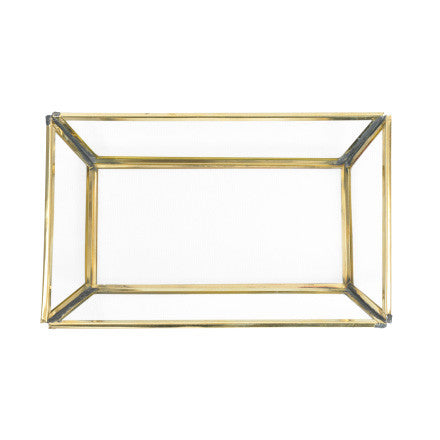 Brass and Glass Tray