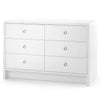 bryant 6 drawer white angle