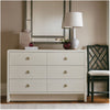 bryant extra large 6 drawer white linen lifestyle