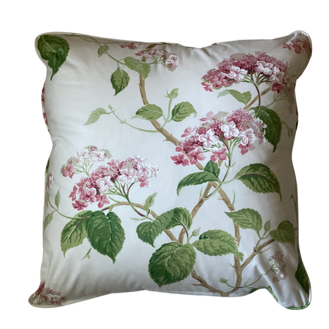 Colefax & Fowler Summerby Chintz Pink & Green Pillow