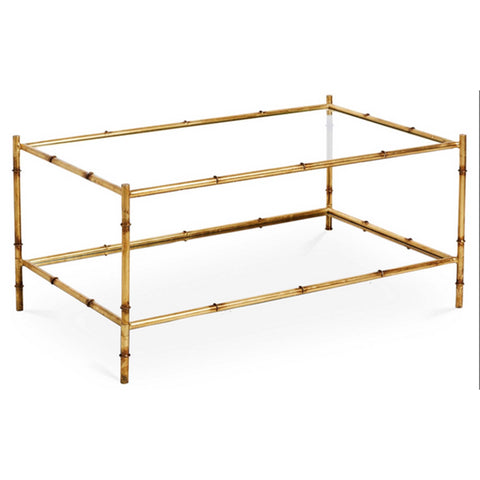 Gold Two Tier Coffee Table