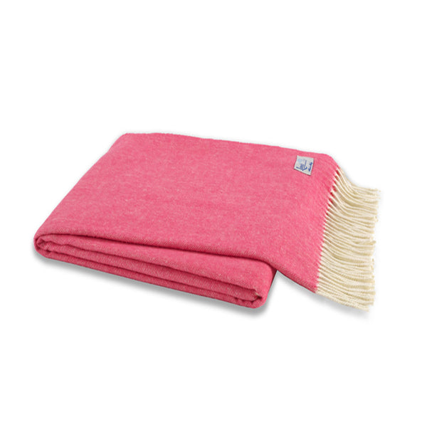 Cosmo Pink Herringbone Throw