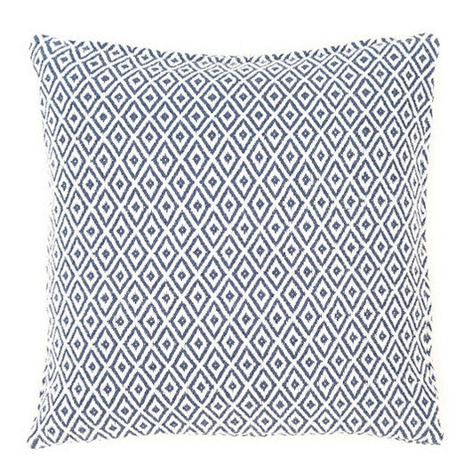 Crystal Navy and White Pillow