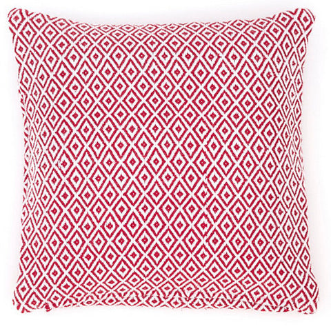 Crystal Red and White Pillow