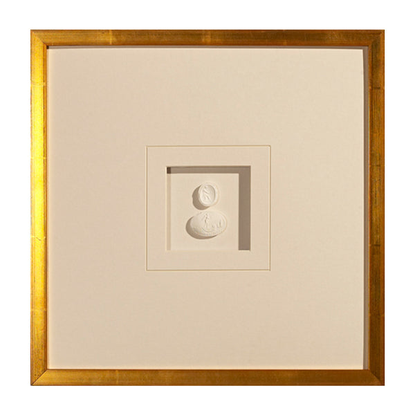 Small Double Intaglios Framed Art