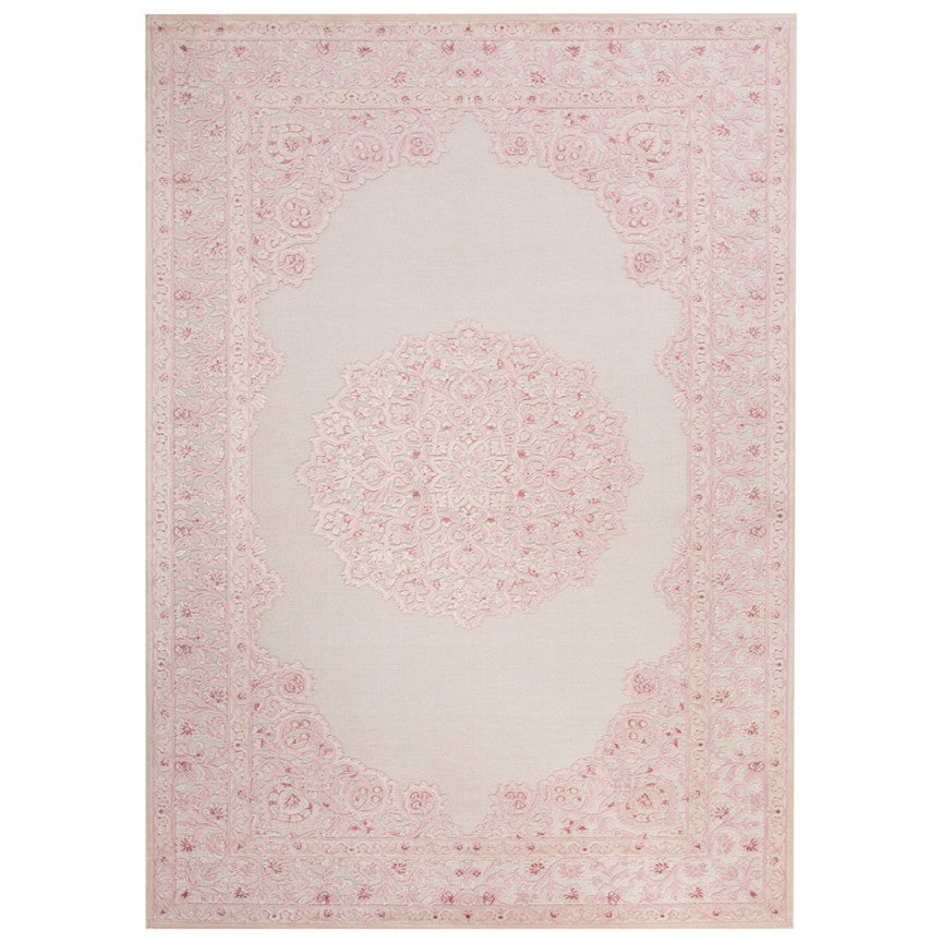 Malo White and Parfait Pink Rug