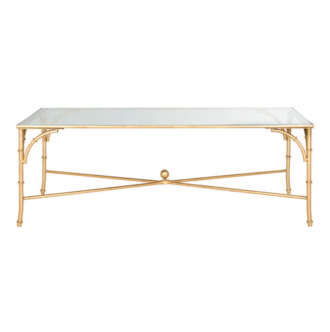 Maurice Coffee Table Gold with Glass Top