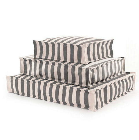 Trimaran Stripe Graphite and Ivory Dog Bed