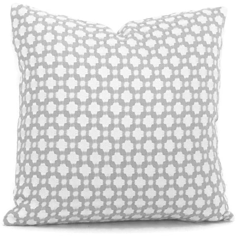 Betwixt Zinc and Blanc Pillow