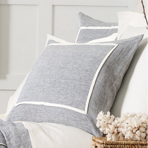 Keaton Linen Indigo Pillow Shams