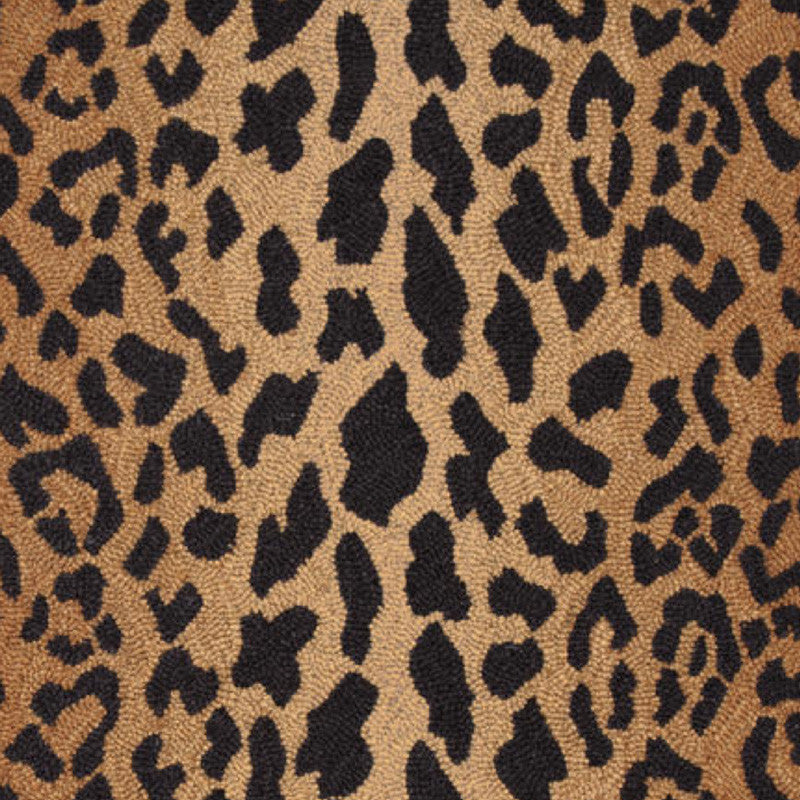 Leopard Wool Micro Hooked Rug (2 x 3)