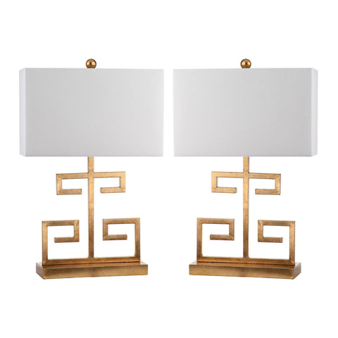 Greek Key Table Lamps