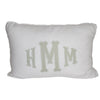 Monogrammed Fabric Applique Pillow