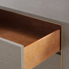 morris 6 drawer gray drawer open
