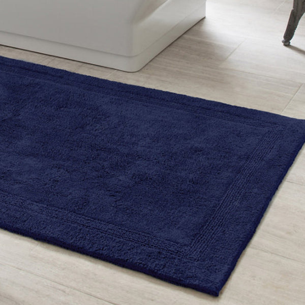 Navy Blue Bath Rug Mintwood Home