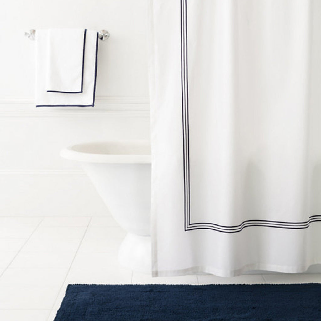 Navy Blue Shower Curtain – Mintwood Home