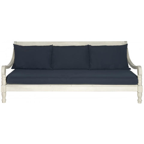 Pasadena Day Bed - Antique White/Navy
