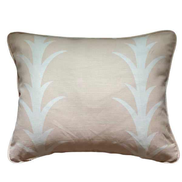Schumacher Acanthus Stripe Blush Pillow