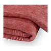 Red Poppy Herringbone Throw