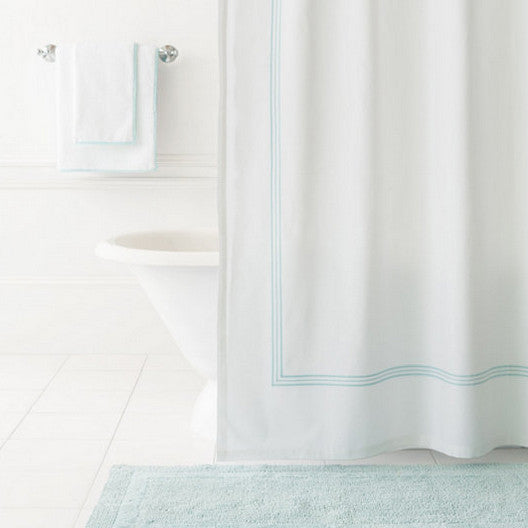 Sky Blue Shower Curtain