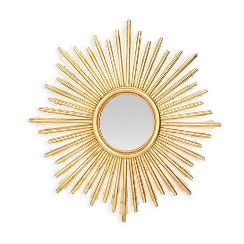 Antiqued Gold Starburst Mirror