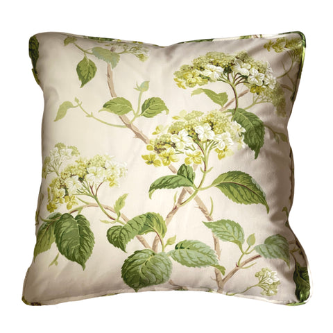 Colefax & Fowler Summerby Chintz Leaf Green Pillow