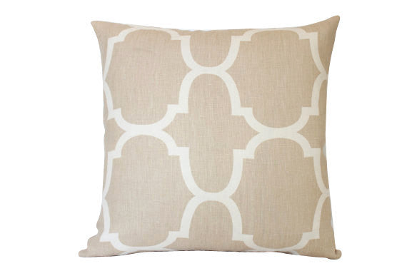 Riad Tan and Ivory Pillow