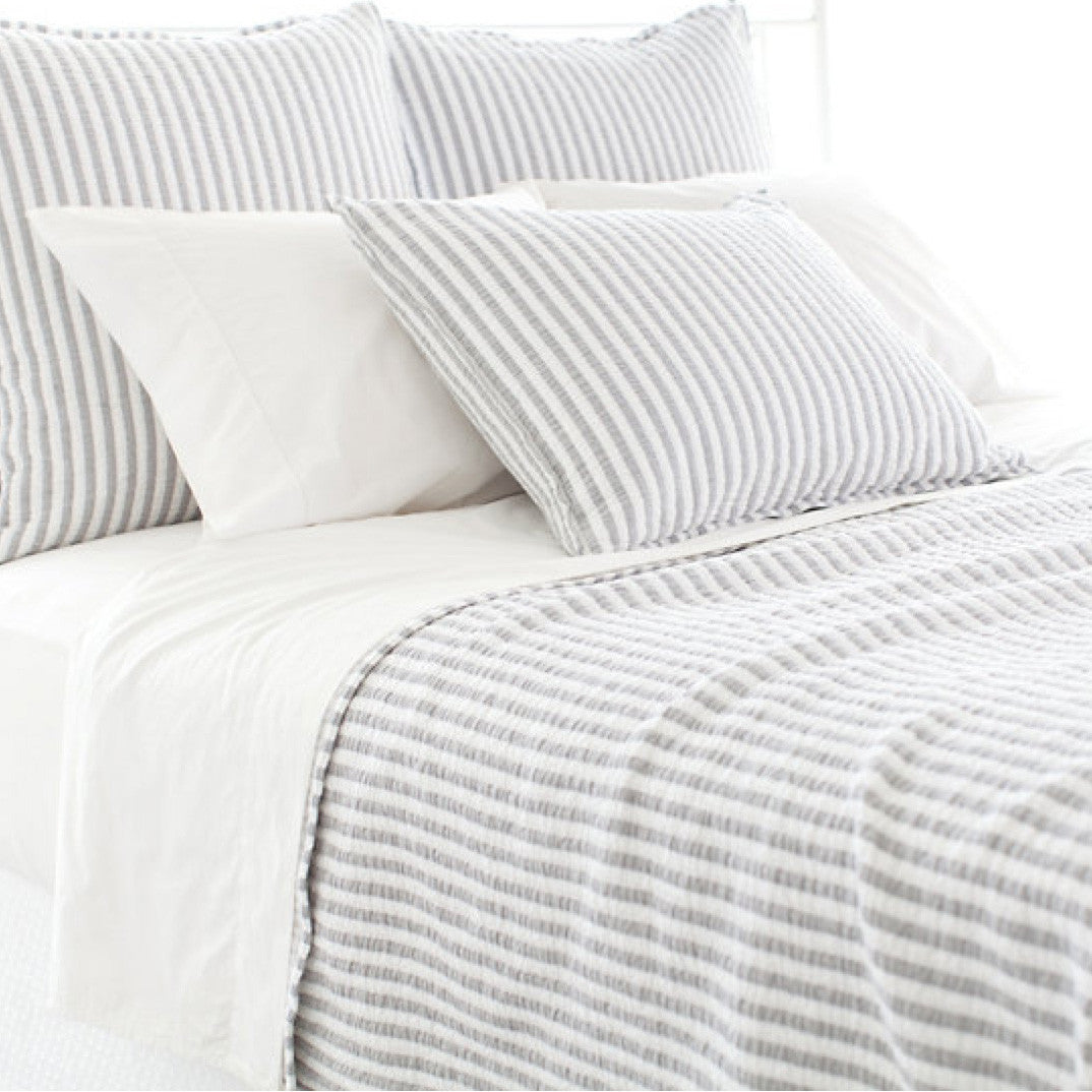 Town and Country Grey Pillow Sham (Standard)