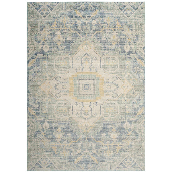 Windsor Rug - Blue/Lime