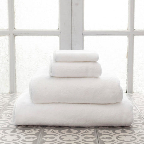 Signature Banded White Towels