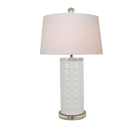 White Trellis Lamp