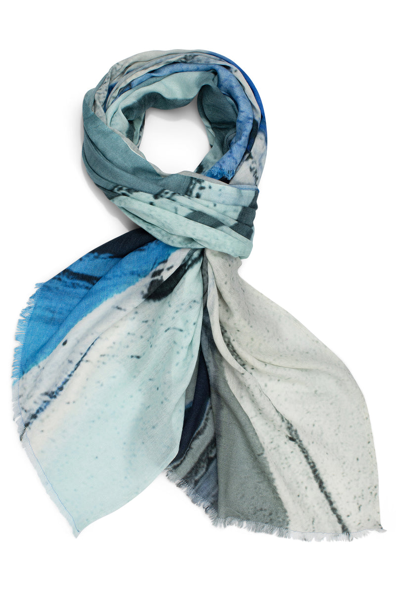 Blue Banks Wool Scarf