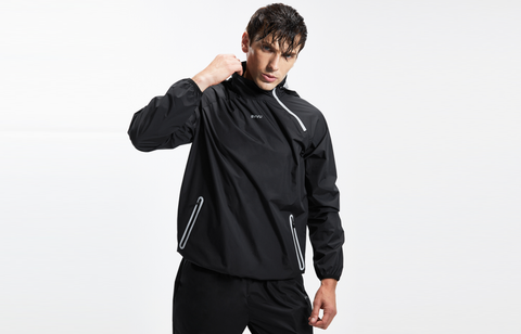 a typical sauna suit for running