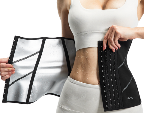 Lacing up a waist corset trainer