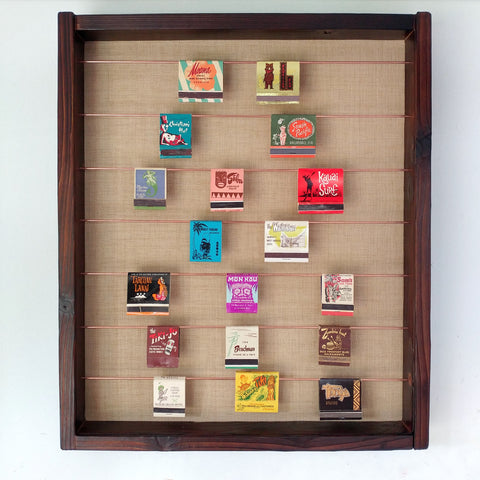 Tiki Matchbook Display Case E