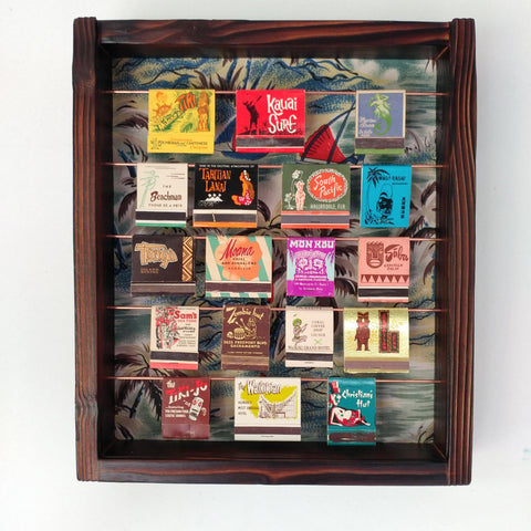 Tiki Matchbook Display Case A