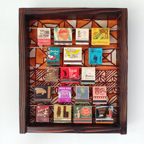 Tiki Matchbook Display Case C