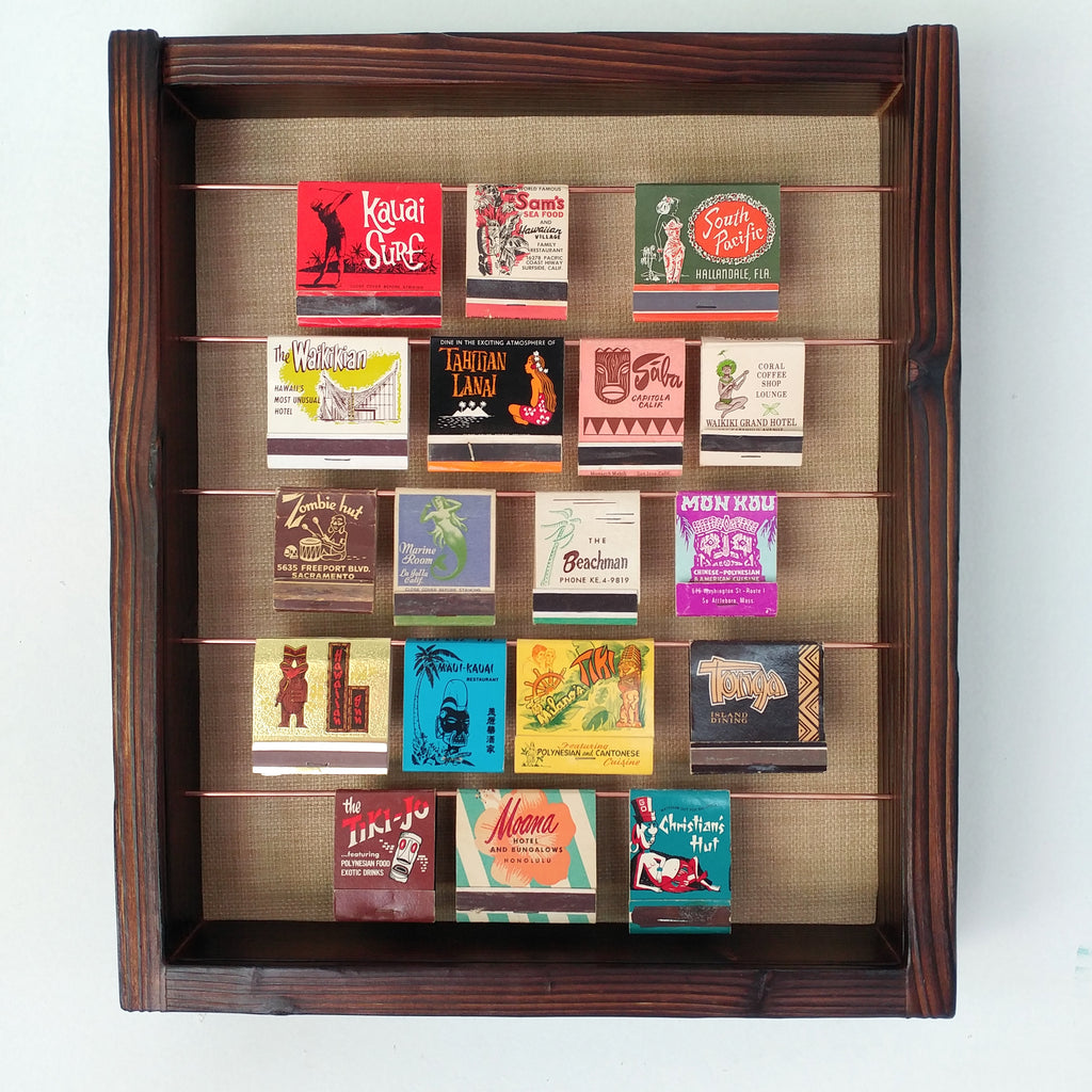 Tiki Matchbook Display Case B