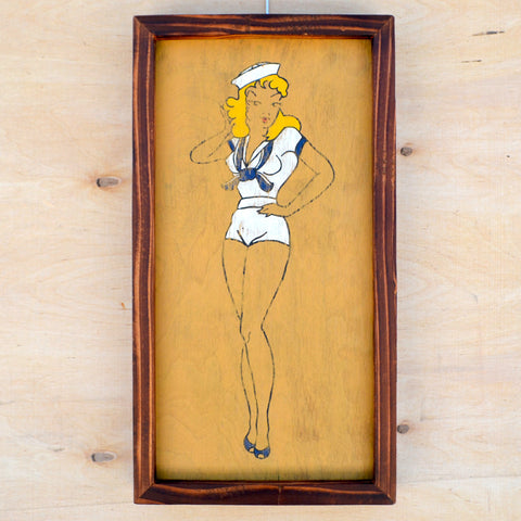 Navy Pin Up Girl